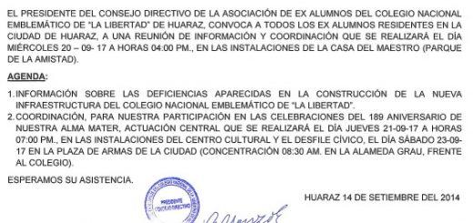 CONVOCATORIA A LOS EX LIBERTANOS