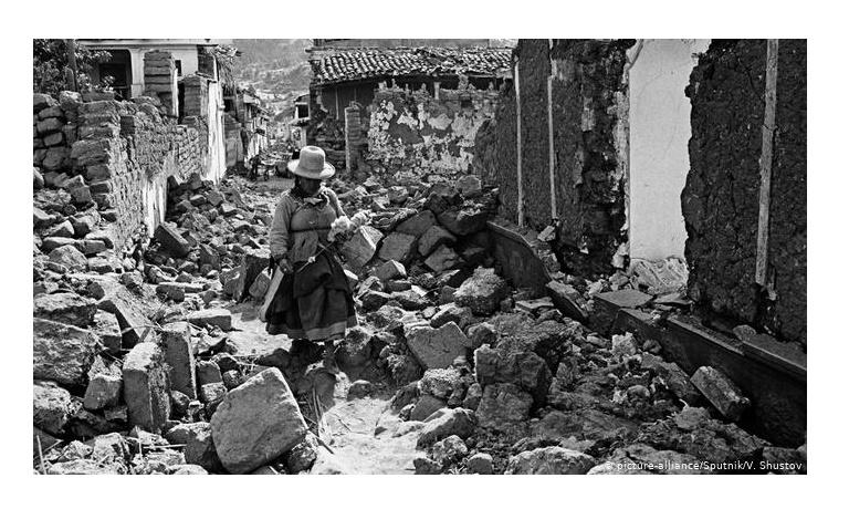Huaraz, Perú, tras el sismo del 31 de mayo de 1970.